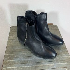 Steve Madden Black Leather Ankle Booties